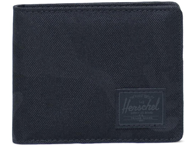 Herschel Roy Coin Portemonnee, black/tonal camo